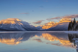 Sunset on Peaks Reflect Nto Lake Mcdonald in Glacier NP, Montana, Usa Photographic Print by Chuck Haney