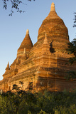 Sunset over Bagan. Seen from Buleithee Pagoda. Bagan. Myanmar Photographic Print by Tom Norring