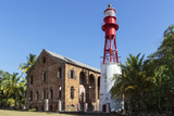 French Guiana, Ile Royale. Lighthouse Situated on Prison Island Photographic Print by Alida Latham