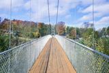 Canada, Quebec, Coaticook, Parc De La Gorge, Suspension Bridge Photographic Print by Rob Tilley