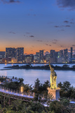 Japan, Tokyo, Odaiba Waterfront at Twilight Photographic Print by Rob Tilley