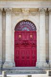 Doors to Saint Paul-Saint Louis Church in the Marais, Paris, France Fotografisk tryk af Brian Jannsen