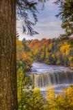 USA, Michigan, Paradise, Tahquamenon Falls State Park, Upper Falls Photographic Print by Frank Zurey