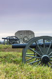 USA, Pennsylvania, Gettysburg, Battlefield Monument and Cannon Photographic Print by Walter Bibikow