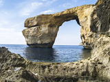 Azure Window, a Natural Arch at the Coast of Gozo, Malta Photographic Print by Martin Zwick