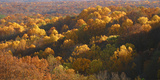 Autumn vista in Brown County State Park, Indiana, USA Photographic Print by Anna Miller