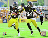 Le'Veon Bell & Antonio Brown 2014 Action Photo