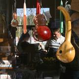 Country Craft items at Covered Bridge Festival, Mansfield, Indiana, USA Reprodukcja zdjęcia autor Anna Miller