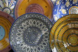 France, Aix-En-Provence. Ceramic Plates, Cours Mirabeau Market Photographic Print by Kevin Oke