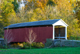 Covered bridge, Indiana, USA Photographic Print by Anna Miller