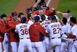 NLCS - San Francisco Giants v St Louis Cardinals - Game Two Fotografisk tryk af Michael Thomas