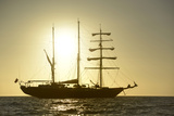 Ecuador, Galapagos Islands, Isabela Island. Ss Mary Anne at Sunset Photographic Print by Kevin Oke
