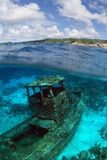 Tugboat Artificial Reef Dive Site. Curacao, Netherlands Antilles Photographic Print by Barry Brown