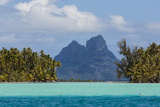 French Polynesia, Bora Bora. Mountain Peaks Seen from Tahaa Lagoon Photographic Print by Alida Latham