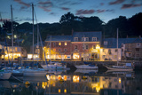 Twilight over Harbor Village of Padstow, Cornwall, England Photographic Print by Brian Jannsen