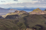 Landscape of a Mountain Range Through Landmannalaugar, Iceland Photographic Print by Gavriel Jecan
