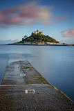 Sunset over Saint Michael's Mount, Cornwall, England Photographic Print by Brian Jannsen