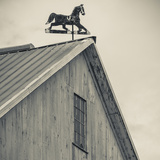 USA, Pennsylvania, Dutch Country, Amish Barn and Weathervane Photographic Print by Walter Bibikow