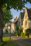 Row of Old Homes in Burford, Cotswolds, Oxfordshire, England Photographic Print by Brian Jannsen