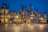 Twilight at Hotel De Ville, Paris, France Photographic Print by Brian Jannsen