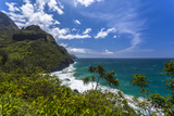 A View of the Na Pali Coast from the Kalalau Trail Fotografisk tryk af Andrew Shoemaker