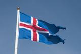 Iceland. South Region. Thingvellir. Icelandic Flag Photographic Print by Inger Hogstrom