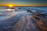 Sun Rays over the Pacific Ocean Near Sunset Cliffs in San Diego, Ca Photographic Print by Andrew Shoemaker