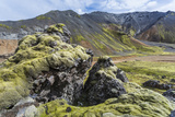 Landscape of a Mountain Range Through Landmannalaugar, Iceland Photographic Print by Gavriel Jecan