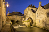 Mill Along River Weir and Medieval Town of Bayeux, Normandy, France Photographic Print by Brian Jannsen