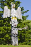 Totem Poles in Cemetery in Alert Bay, British Columbia, Canada Photographic Print by Michael DeFreitas