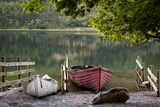 Boats on Buttermere Lake, Cumbria, Lake District, England Photographic Print by Brian Jannsen