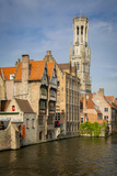 Belfry of Bruges Towers over the Buildings, Bruges, Belgium Photographic Print by Brian Jannsen