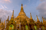 Sunset at Shwedagon Pagoda. Yangon. Myanmar Photographic Print by Tom Norring