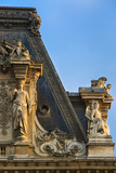 Rooftop Details at Musee Du Louvre, Paris, France Photographic Print by Brian Jannsen