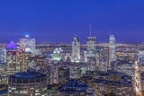 Canada, Quebec, Montreal, Skyline at Twilight Photographic Print by Rob Tilley