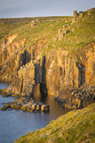 Sunset over the Cliffs Near Lands End, Cornwall, England Photographic Print by Brian Jannsen