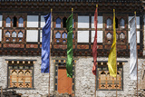 Flags Flutter Outside the Punakha Dzong Palace, Punakha, Bhutan Photographic Print by Gavriel Jecan