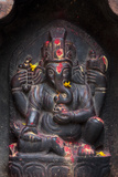 Kathmandu, Nepal. Votive Shrine to the Hindu Deity Ganesh Reprodukcja zdjęcia autor Charles Cecil