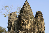 Cambodia, Angkor Wat. Gate to Angkor Thom. Face of Lokesvara Photographic Print by Matt Freedman