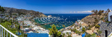 A Panorama of Avalon on Catalina Island Photographic Print by Andrew Shoemaker