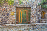 Mexico, San Miguel De Allende. Quaint Doorway in Stone Wall Facade Photographic Print by Jaynes Gallery