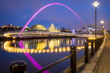 Gateshead Millennium Bridge and Sage, River Tyne, England Photographic Print by Brian Jannsen