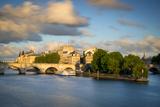 Pont Neuf, River Seine and Ile-De-La-Cite at Sunset, Paris, France Photographic Print by Brian Jannsen