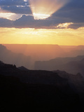 Grand Canyon at Sunset with Clouds, Grand Canyon NP, Arizona Photographic Print by Greg Probst
