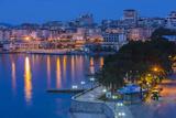 Albania, Albanian Riviera, Saranda, Hotels Along the Ionian Sea, Dawn Photographic Print by Walter Bibikow