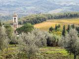 Italy, Tuscany. Santa Maria Novella Monastery Near Radda in Chianti Fotografisk tryk af Julie Eggers