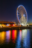 USA, Washington, Seattle. the Seattle Great Wheel on the Waterfront Photographic Print by Richard Duval