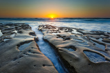 Sunset at Tide Pools in La Jolla, Ca Photographic Print by Andrew Shoemaker