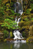 Heavenly Falls, Portland Japanese Garden, Portland, Oregon, Usa Reproduction photographique par Michel Hersen