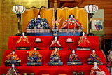 Japan, Nara Prefecture. Hina Dolls at the Takatori-Do Doll Festival Photographic Print by Jaynes Gallery